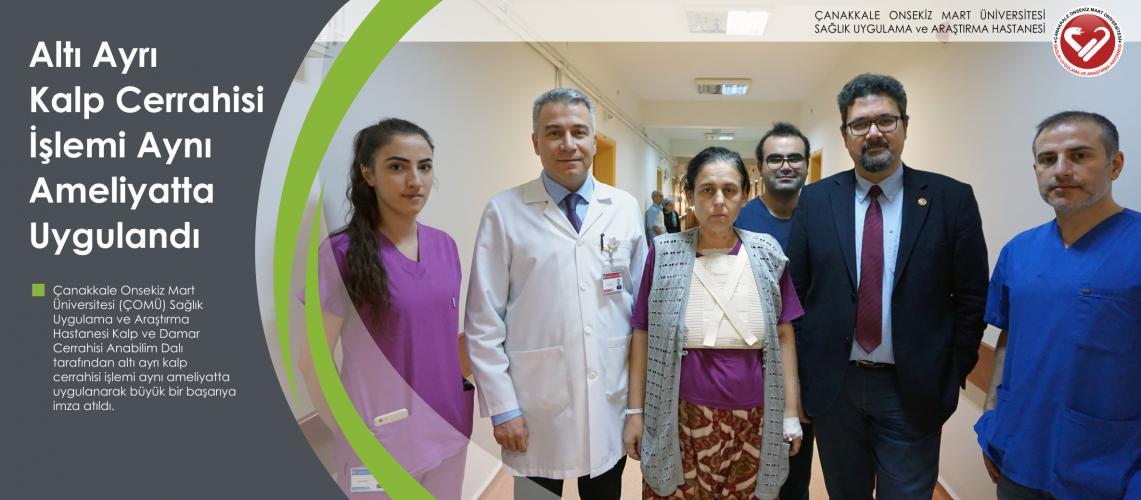 Altı Ayrı Kalp Cerrahisi İşlemi Aynı Ameliyatta Uygulandı