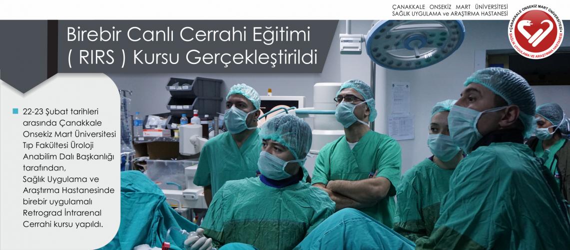Birebir Canlı Cerrahi Eğitimi ( RIRS ) Kursu Gerçekleştirildi