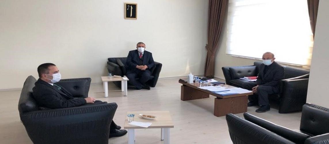 Vali İlhami AKTAŞ, ÇOMÜ Sağlık Uygulama ve Araştırma Hastanesi Başhekimliğini Ziyaret Etti