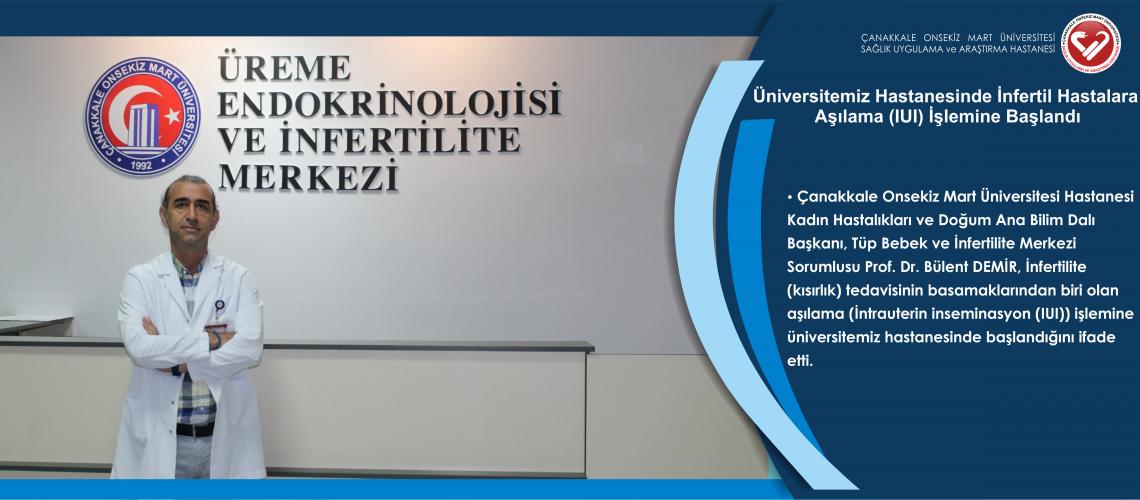 Üniversitemiz Hastanesinde İnfertil Hastalara Aşılama (IUI) İşlemine Başlandı
