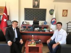 Üniversitemiz Siyasal Bilgiler Fakültesi Dekan Yardımcısı Doç. Dr. Kadir Arslanboğa'nın ziyaretinden enstantane
