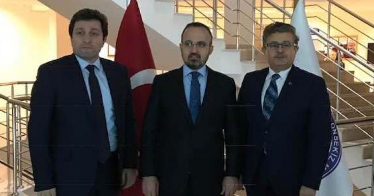 Milletvekilimiz Av. Bülent TURAN ve Çanakkale Valimiz Orhan TAVLI Beyler Fakültemizi ziyaret ettiler.