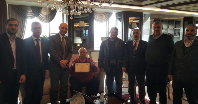 İÇDAŞ'ın kurucusu ve Yönetim Kurulu Başkanı muhterem Tacettin ASLAN Beyefendi'ye taziye ve teşekkür ziyareti