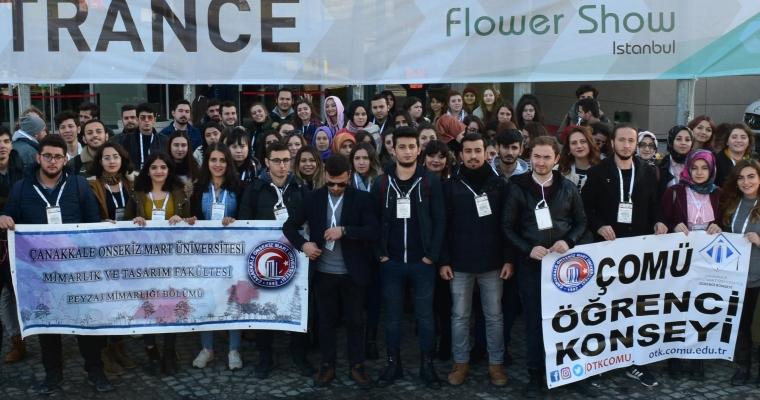 Flower Show 2017 Fuarında ÇOMÜ Peyzaj Mimarlığı Öğrencileri