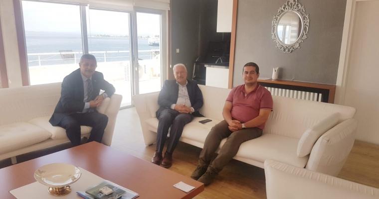Prof. Dr. Abdullah KELKİT ve Doç. Dr. Alper SAĞLIK'tan Lapseki Belediye Başkanı Eyüp YILMAZ'a ziyaret