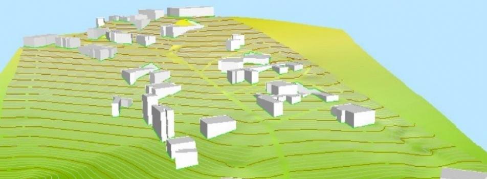 FAY-2013-117 Kodlu Bilimsel Araştırma Projesi Kapsamında Üretilen ÇOMÜ 3D Kampüs Modeli