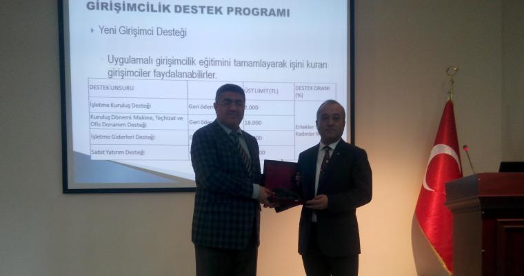 KOSGEB Çanakkale Hizmet Merkezi Müdürü Erdoğan YÜKSEL tarafından bilgilendirme amaçlı toplantı gerçekleştirilmiştir.