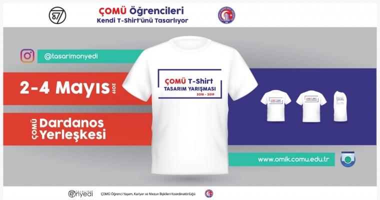 ÇOMÜ'lü öğrenciler kendi t-shirtlerini tasarlıyor