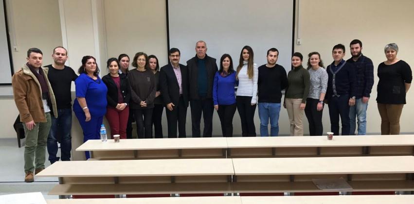 ÇKHBGS Tıbbi Hizmetler Başkanı Uzm.Dr. İsmail TEMİZ Sağlık Bilimleri Enstitüsü Sağlık Yönetimi Yüksek Lisans Programı Öğrencilerine Ders Verdi