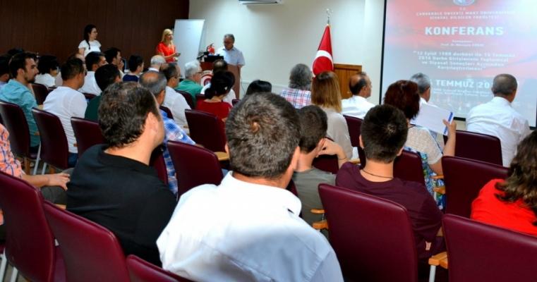 15 Temmuz Yıl Dönümü Konferansı Gerçekleştirildi