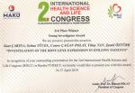 Dr. Öğr. Üyesi Suat Çakına ve Öğr. Gör. Dr. Şamil Öztürk Genç Araştrımacı Kategorisinde Üçüncülük Ödülü Aldı