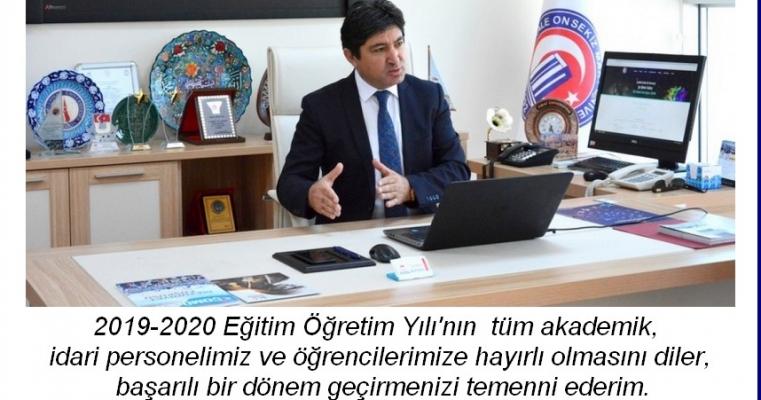 Dekan Prof.Dr. Hürmüz KOÇ'un 2019-2020 Eğitim -Öğretim Yılı Mesajı