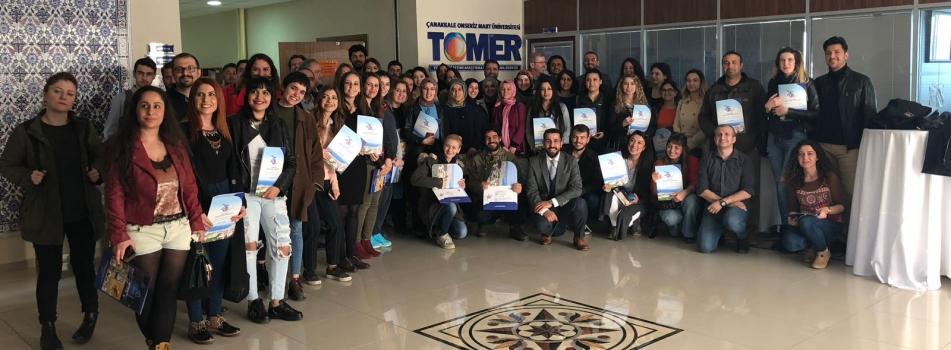ÇOMÜ TÖMER Yabancı Dil Olarak Türkçe Öğretmenliği Sertifika Programı Sona Erdi.
