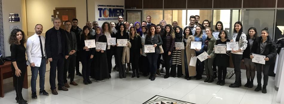 """ÇOMÜ TÖMER """"Yabancı Dil Olarak Türkçe Öğretmenliği Sertifika Programı"""" Töreni Geçekleştirildi."""