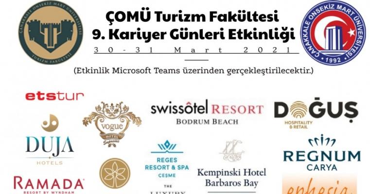 ÇOMÜ Turizm Fakültesi 9. Kariyer Günleri Etkinliği (30-31 Mart 2021)
