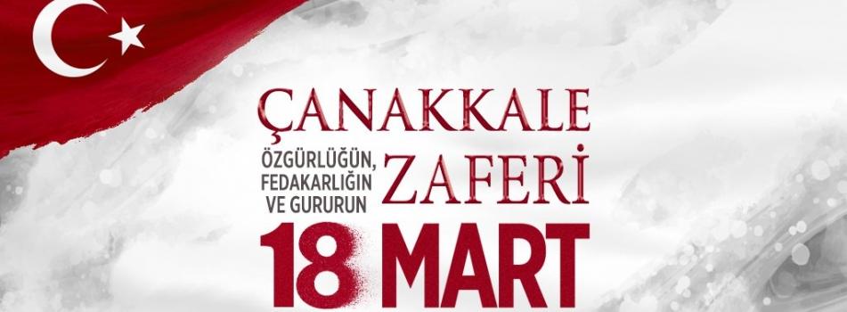 18 Mart Çanakkale Zaferinin yıl dönümünde şehitlerimizi saygı, rahmet ve minnetle anıyoruz...