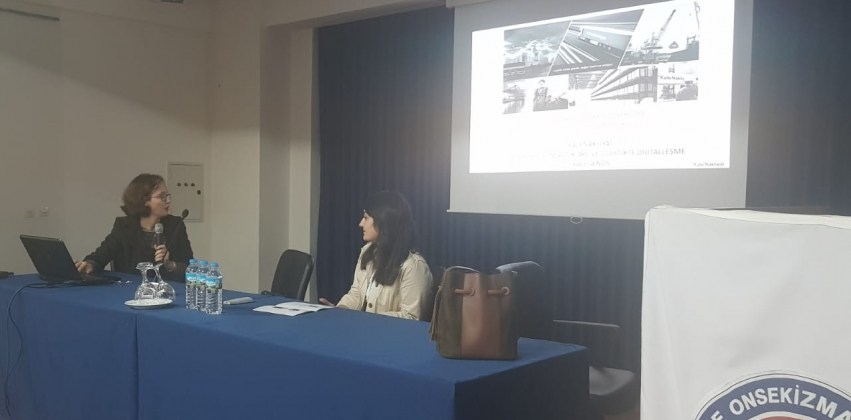 """Yenice Meslek Yüksekokulunda """"Kale Nakliyat'taki Taşıma Türleri ve Kombine Taşımacılık"""" konulu seminer düzenlendi."""