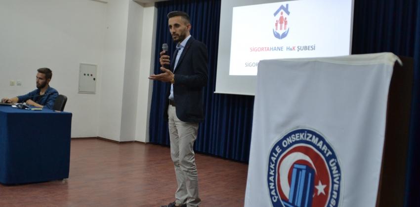 """Yenice Meslek Yüksekokulunda """"MEZUNLARIMIZIN GÖZÜNDEN SİGORTACILIK"""" Konulu Seminer"""