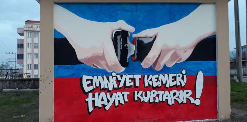 Mimari Dekoratif Sanatlar Programı Öğrencilerinin Yenice'de Duvar Resmi-Grafiti Çalışmaları