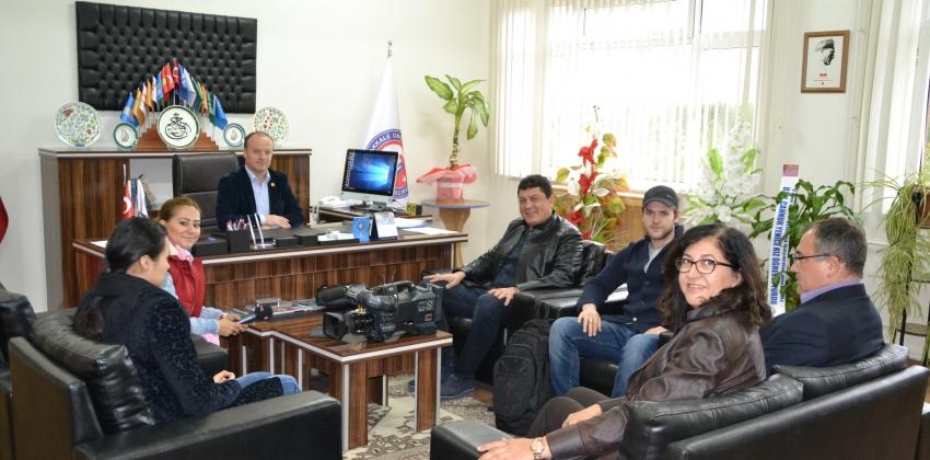 """BEYAZ TV """"KAMPÜS SHOW"""" PROGRAMI İÇİN YÜKSEKOKULUMUZDA"""