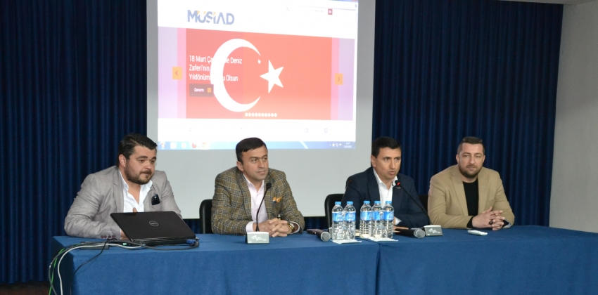 """MÜSİAD Çanakkale Şubesi'nden """"YENİ TÜRKİYE YENİ DÜNYA"""" Konulu Konferans"""