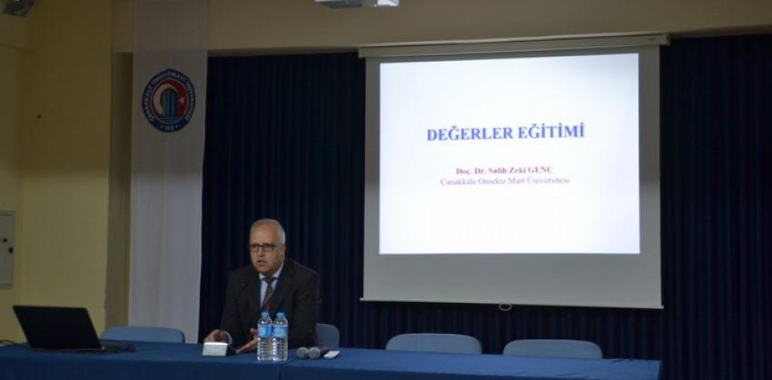 Yüksekokulumuzda ''GENÇLİK VE DEĞERLER'' konulu konferans