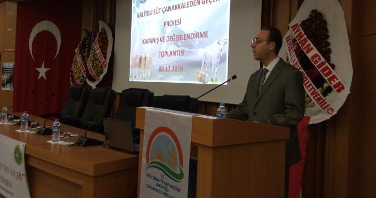 """Dekanımız Prof. Dr. Alper DARDENİZ """"Kaliteli Süt Çanakkale'den Geçer"""" Projesi Kapanış Toplantısına Katıldı"""