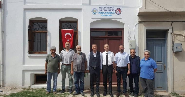Ziraat Fakültesi ile Bozcaada Belediyesi Arasında Protokol İmzalandı