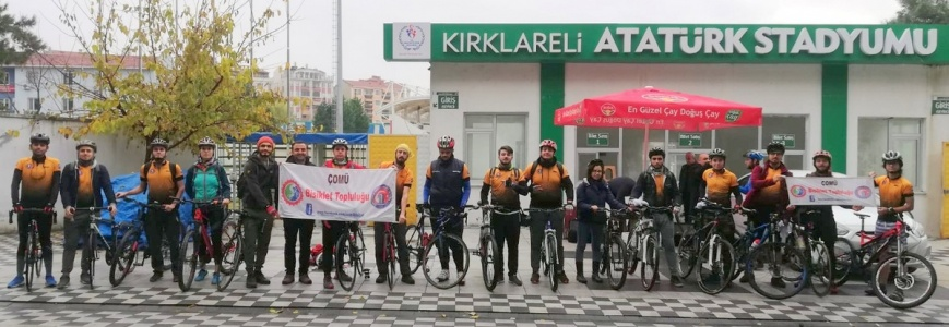 """ÇOMÜ  Bisiklet Topluluğu """"Kampüse Yolculuk"""" Etkinliğine  Katıldı"""