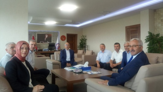 AK Parti Kepez Teşkilatından Rektör Prof. Dr. Sedat Murat'a Ziyaret