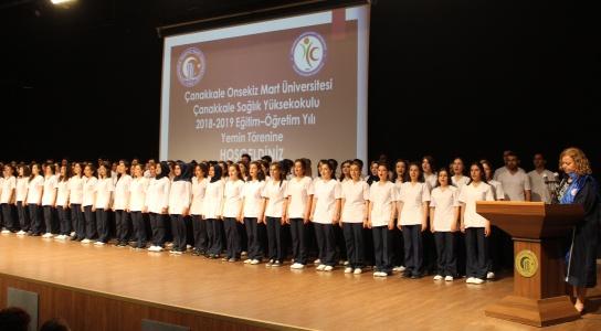 Çanakkale Sağlık Yüksekokulu Yemin Töreni Gerçekleşti