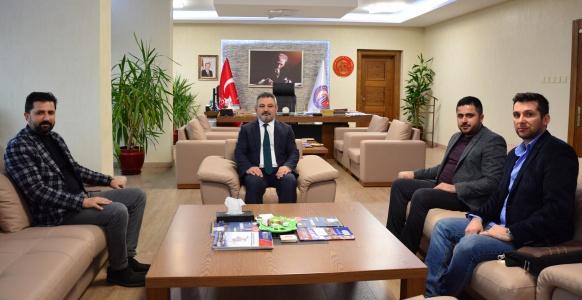 Gökçeada AK Parti İlçe Başkanı Ümit Mahmut Kolçak, Rektör Acer'i Ziyaret Etti