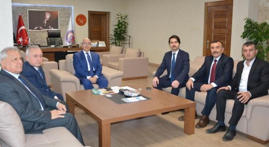 Milliyetçi Hareket Partisi İl Yönetiminden Rektör Prof. Dr. Sedat Murat'a Ziyaret