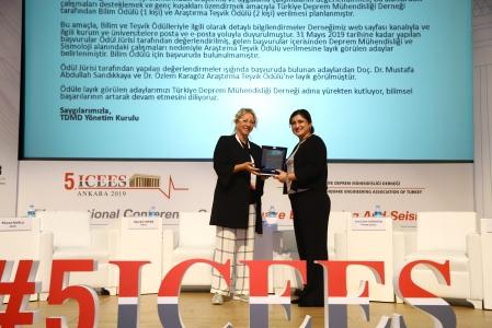 Türkiye Deprem Mühendisliği Derneği 2019 Yılı Araştırma Teşvik Ödülü ÇOMÜ'nün