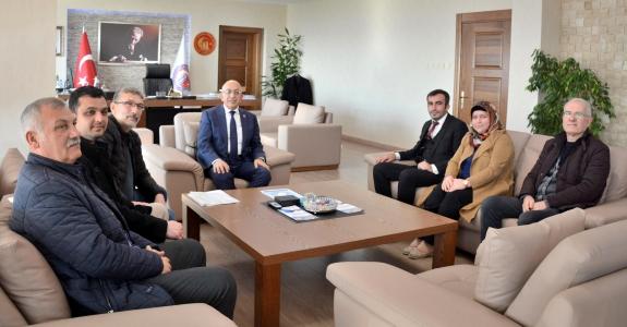 AK Parti Kepez Belde Teşkilatından Rektör Prof. Dr. Sedat Murat'a Ziyaret