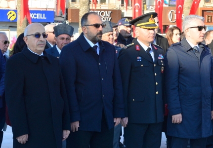 Çanakkale 18 Mart Deniz Zaferi ve Şehitleri Anma Günü Kapsamında Çelenk Sunma Töreni Yapıldı