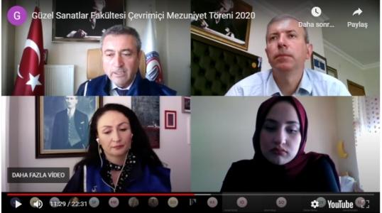 ÇOMÜ Güzel Sanatlar Fakültesi'nin Mezuniyet Töreni Online Yapıldı