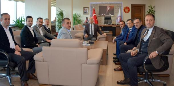 İl Genel Meclis Üyelerinden Rektör Prof. Dr. Sedat Murat'a Ziyaret