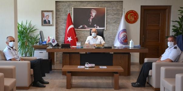 Jandarma Özel Eğitim Merkezi Komutanlığından ÇOMÜ Rektörü Prof. Dr. Sedat Murat'a Ziyaret