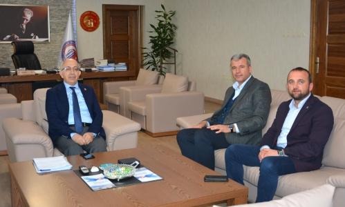 Karabiga Belediye Başkanı Ahmet Elbi'den ÇOMÜ Rektörü Prof. Dr. Sedat Murat'a Ziyaret