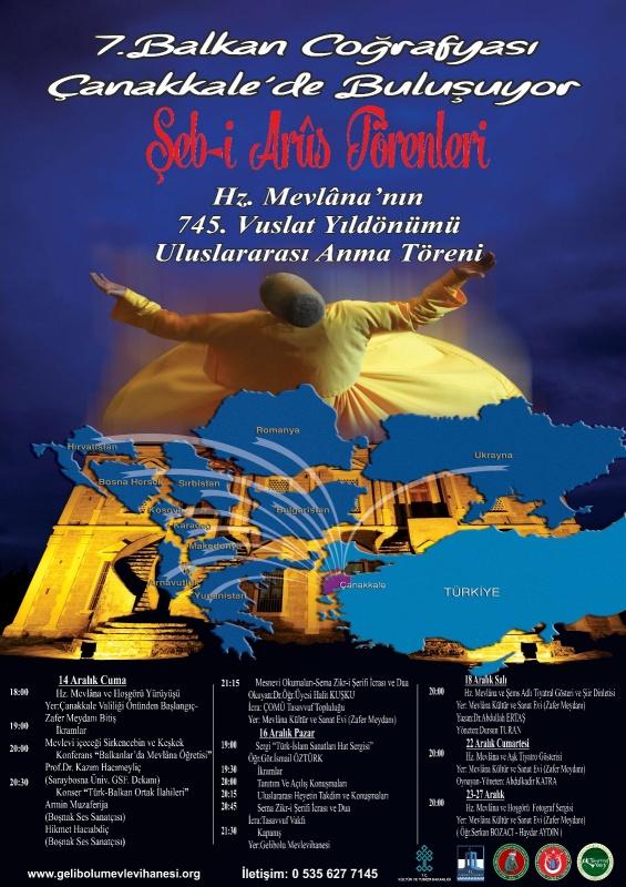 7. Balkan Coğrafyası Çanakkalede Buluşuyor  Şeb-i Arus Törenleri