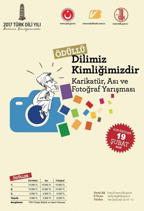Dilimiz Kimliğimizdir-Karikatür, Ası ve Fotoğraf Yarışması