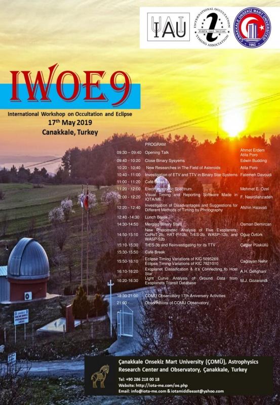 International Workshop on Occultation and Eclipse