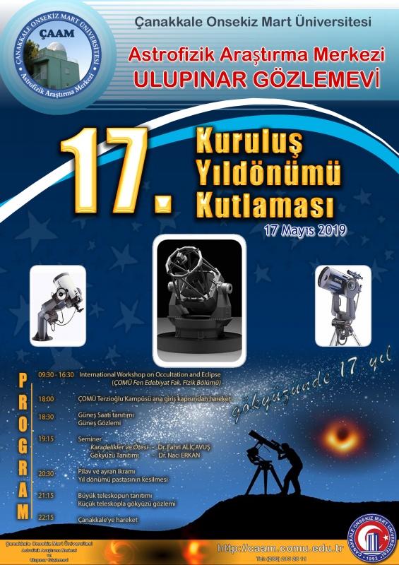 Astrofizik Araştırma Merkezi Ulupınar Gözlemevi 17. Yıl Kuruluş Yıldönümü Kutlaması
