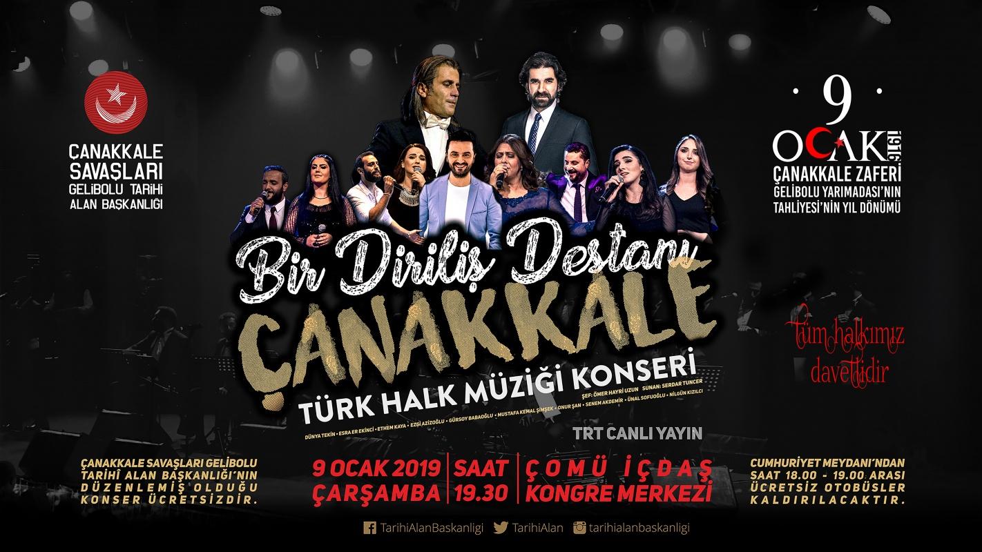 Bir Diriliş Destanı Çanakkale Türk Halk Müziği Konseri