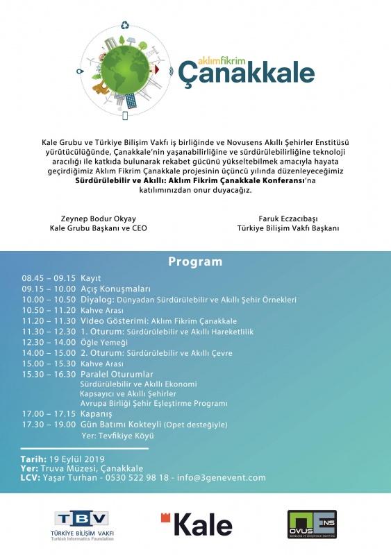 Sürdürülebilir ve Akıllı: Aklım Fikrim Çanakkale Konferansı