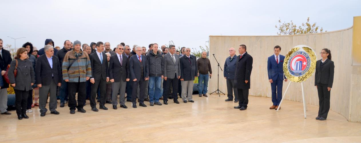 29 Ekim Cumhuriyet Bayramı Dolayısıyla Çelenk Koyma Töreni Gerçekleşti