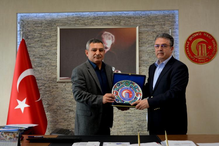 AK Parti AR-Ge Başkan Yardımcısı Osman Coşkun Rektör Prof. Dr. Yücel Acer'i Makamında Ziyaret Etti