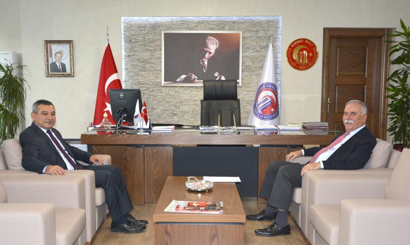 Belediye Başkanından Rektör Prof. Dr. Yücel Acer'e Ziyaret