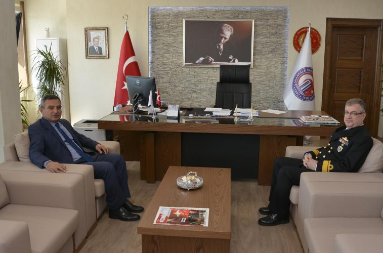 Boğaz ve Garnizon Komutanı Tayyar Ertem, Rektör Acer'i Ziyaret Etti